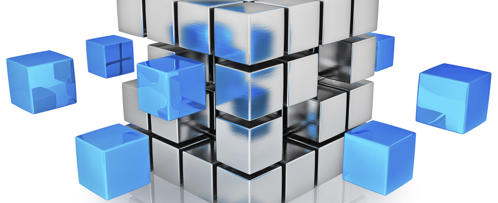 Accounting Services: Multiple Floating Cubes